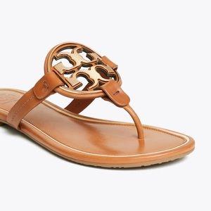 Tori Burch Miller Medal Logo sandal